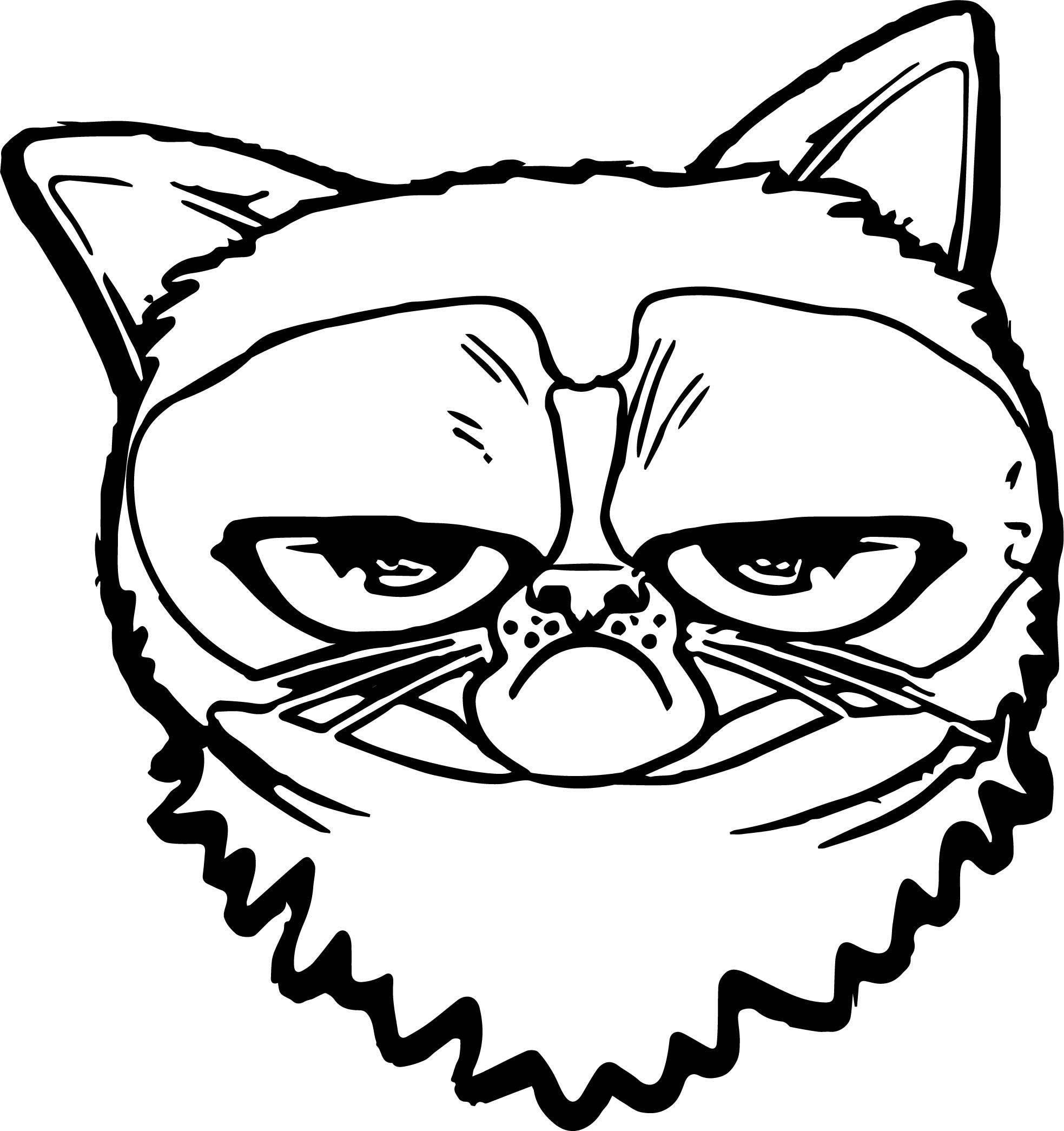 Put Cat Coloring Page