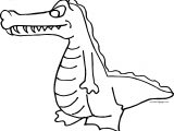 Put Crocodile Alligator Coloring Page