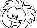 Rainbow Puffle Pin Coloring Page