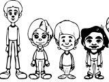Random Kid Character Coloring Page