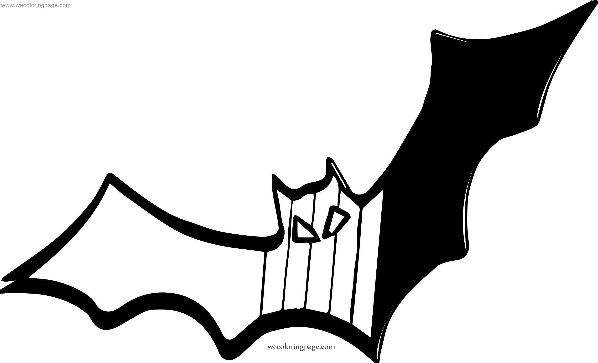 Right Bat Coloring Page