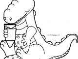 Right Crocodile Alligator Coloring Page