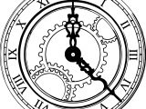 Rome Ancient Clock Coloring Page