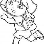 Run Dora The Explorer Coloring Page
