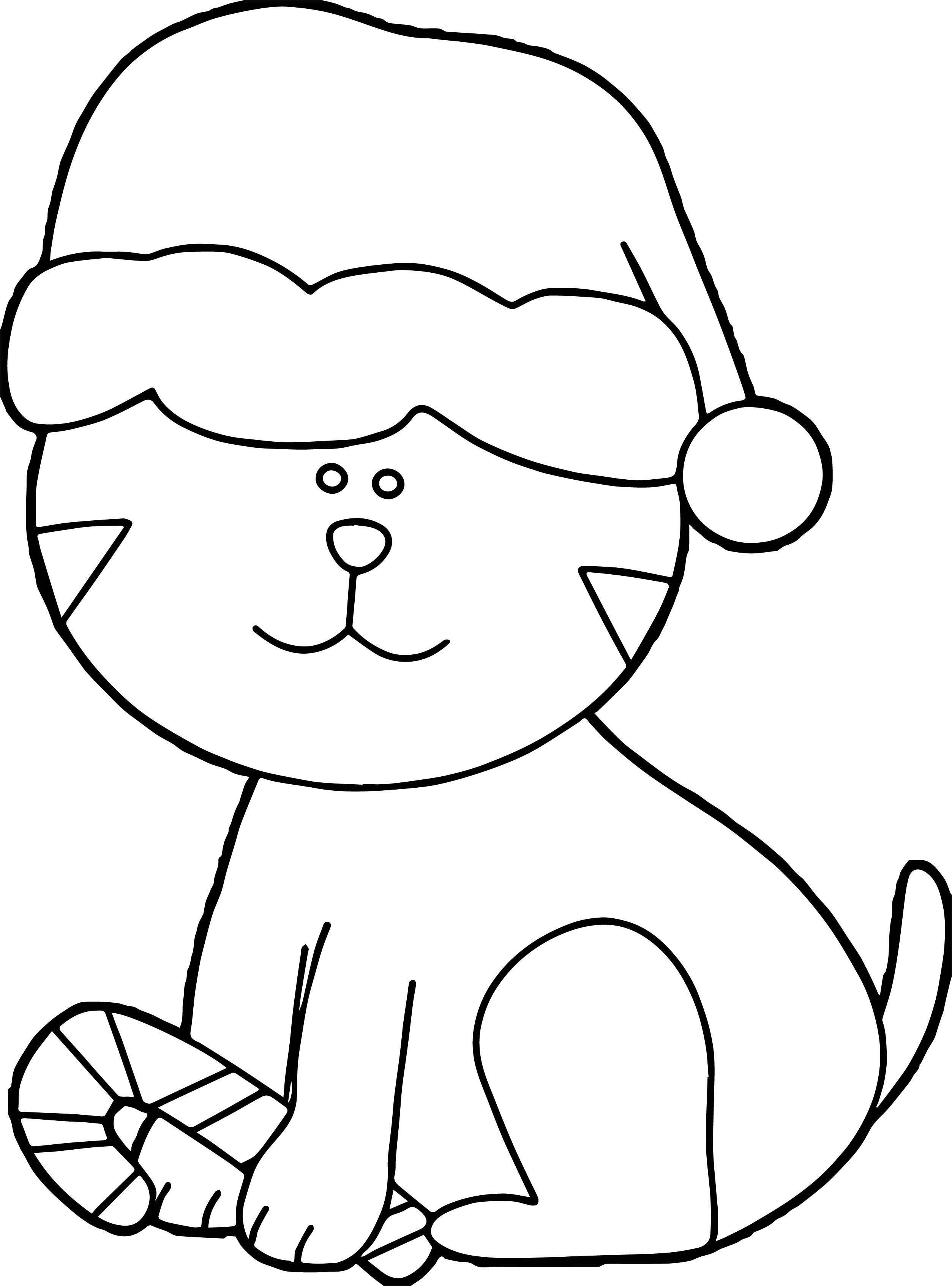 School Cat Coloring Page