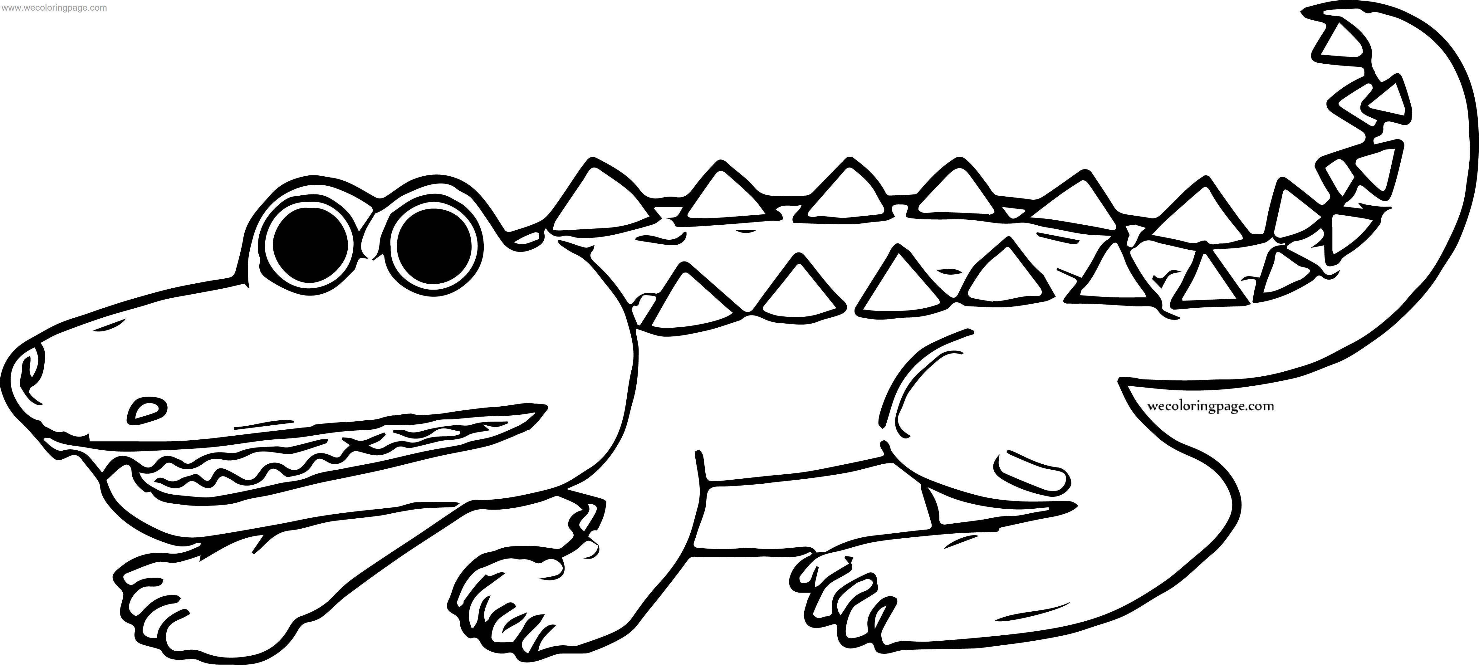 Set Crocodile Alligator Coloring Page