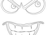 Sinister Outline Smiley Face Coloring Page