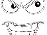 Sinister Smiley Face Coloring Page