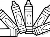 Six Crayon Cartoon Pen Coloring Page