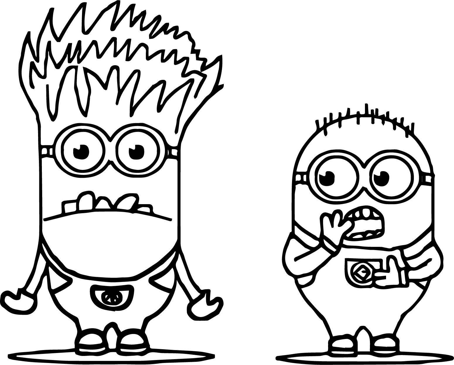 Small And Big Minion Minions Coloring Page