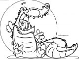 Small Crocodile Alligator Coloring Page