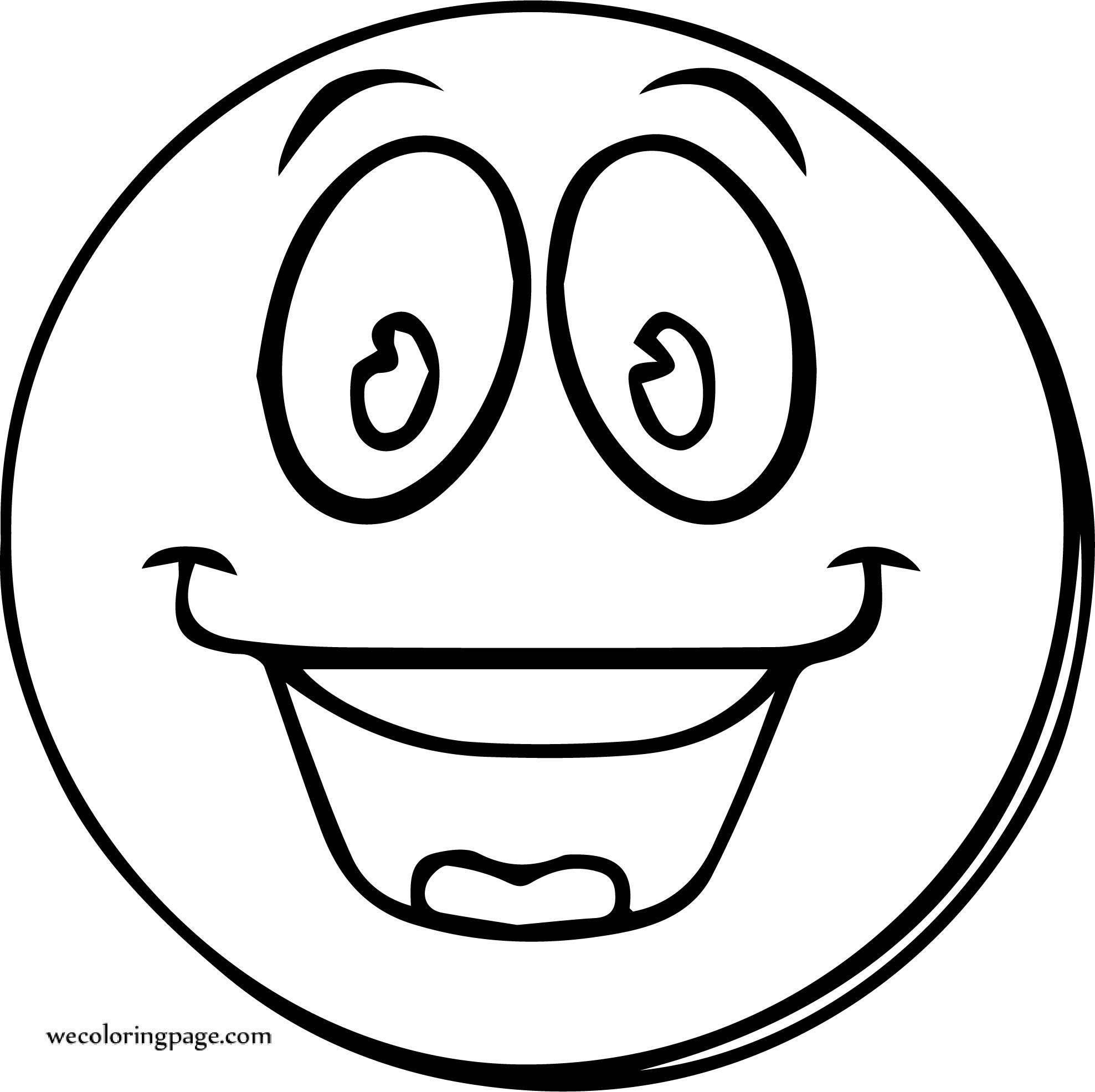 Smiley Face Happy Face Free Images Coloring Page