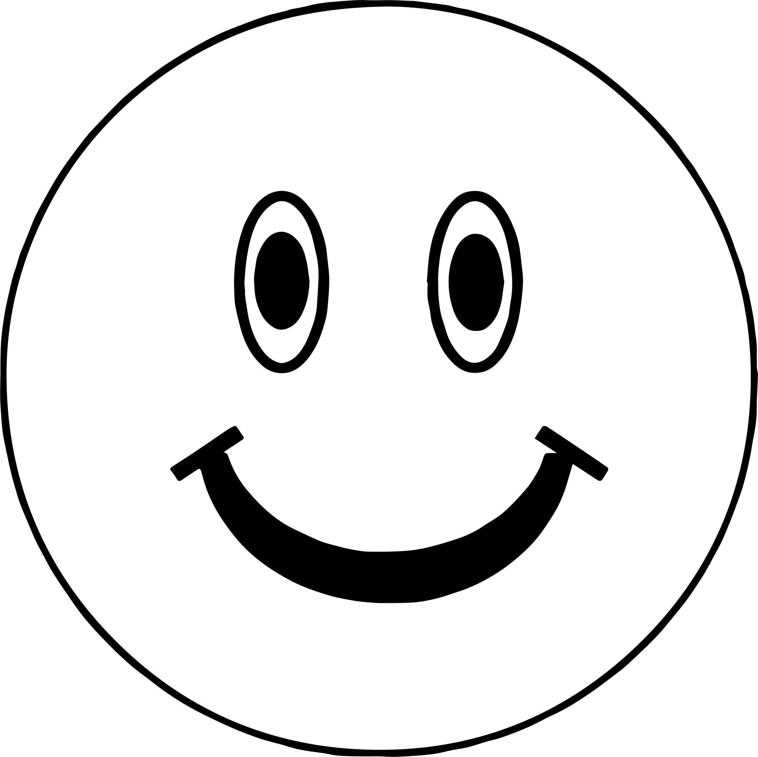 Smiling Boy Face Coloring Page