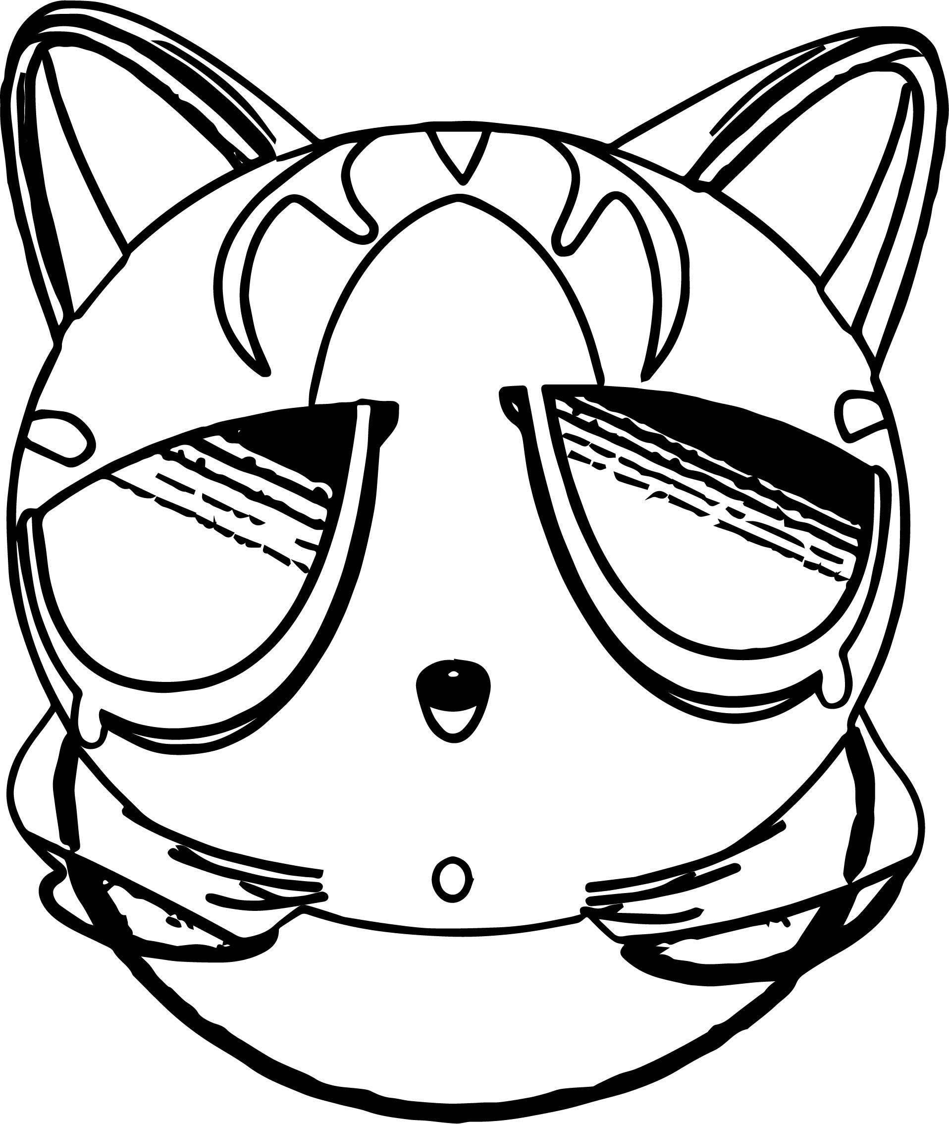 Sound Cat Coloring Page