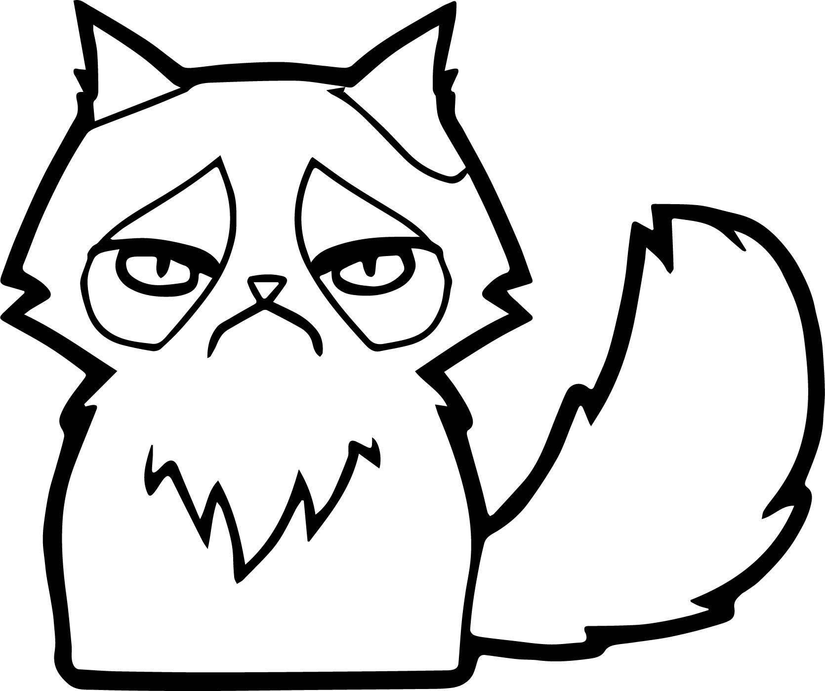 Spell Cat Coloring Page