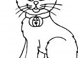 Stand Cat Coloring Page