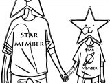 Star Member Computer Engineer Coloring Page