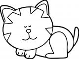 Still Cat Coloring Page