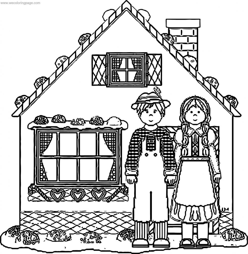 Story Book House Hansel Gretel Gingerbread House Coloring Page ...