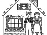Story Book House Hansel Gretel Gingerbread House Coloring Page