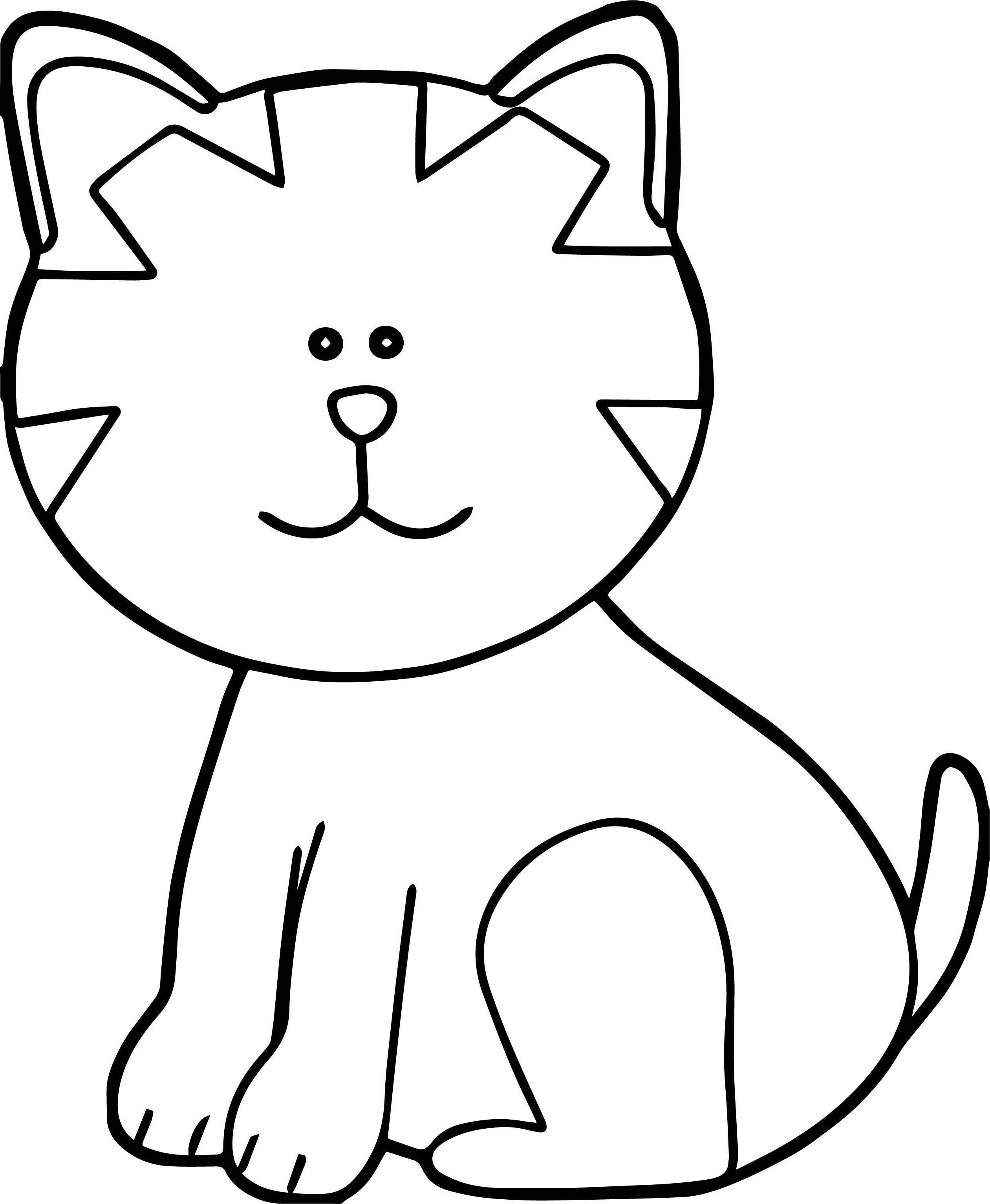 Study Cat Coloring Page