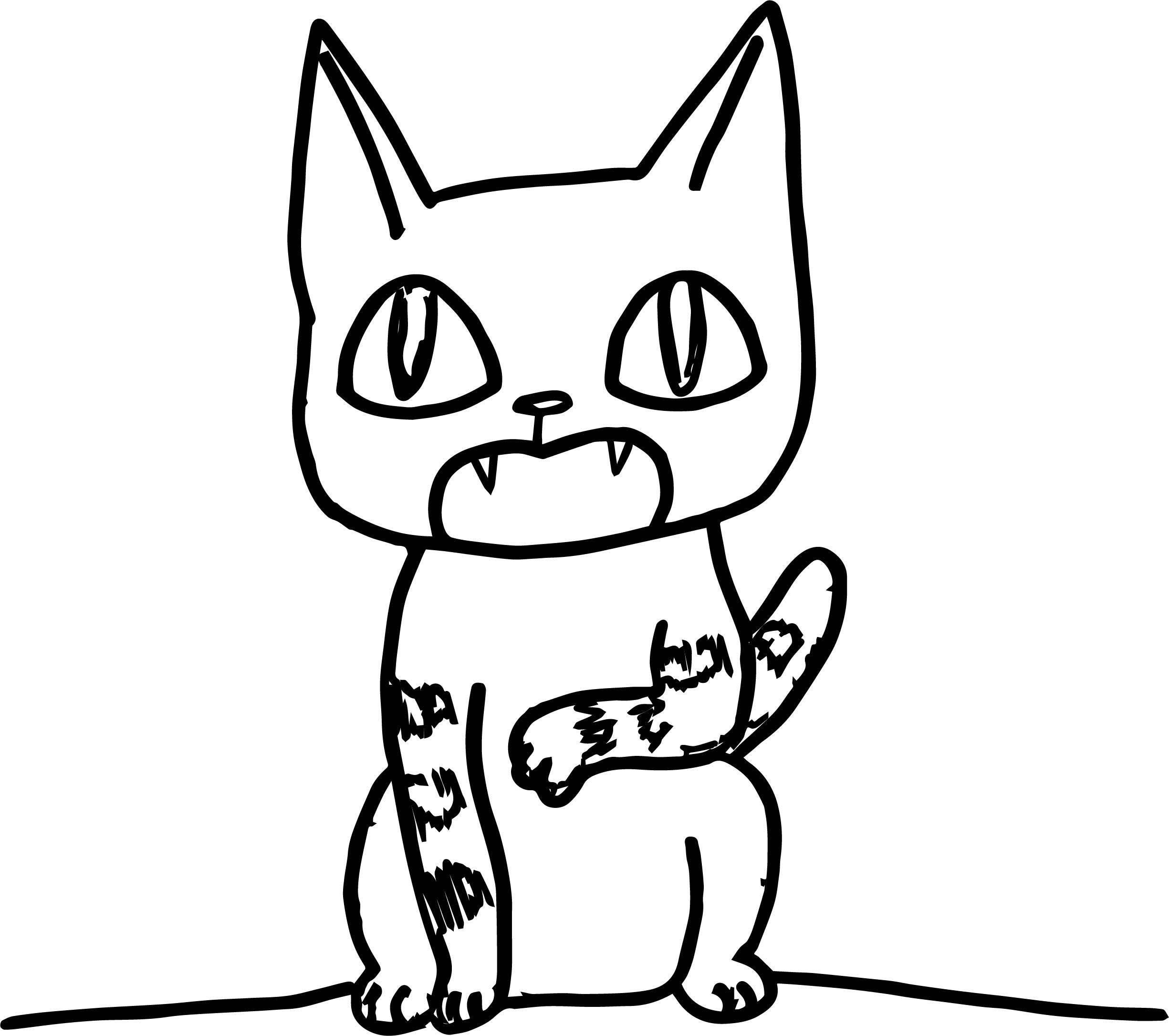 Such Cat Coloring Page
