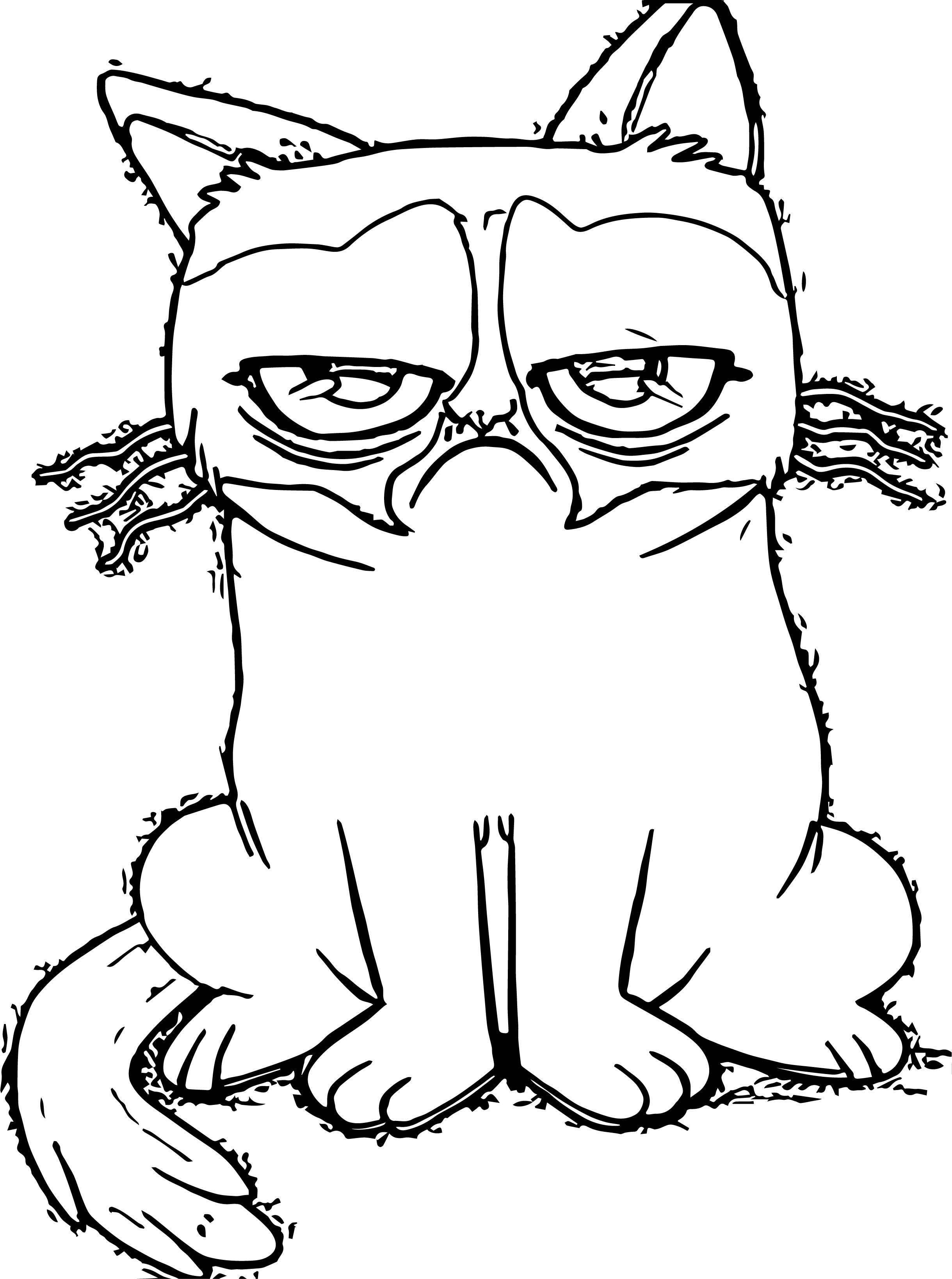 Than Cat Coloring Page
