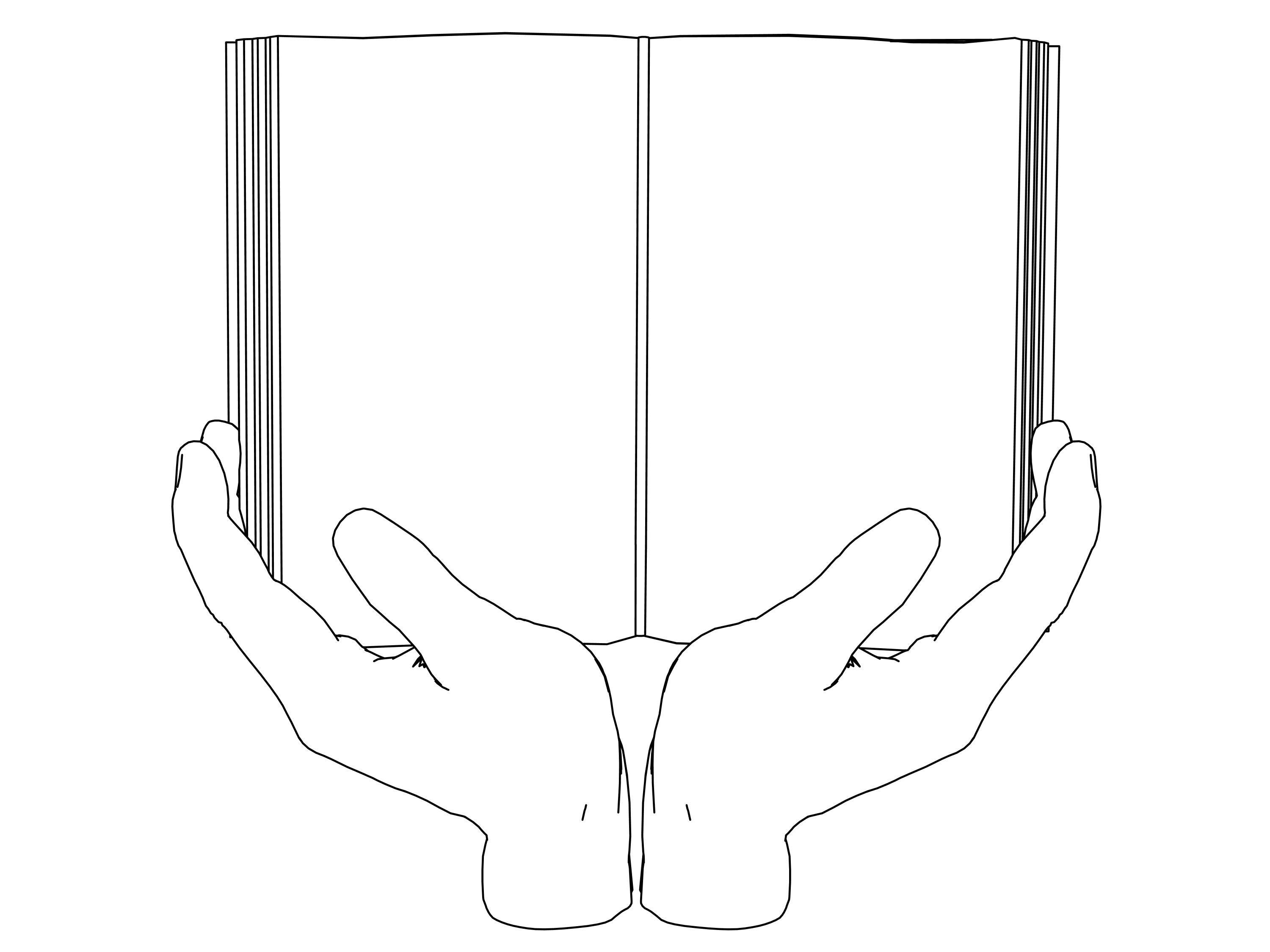 The Book On Hand Coloring Page