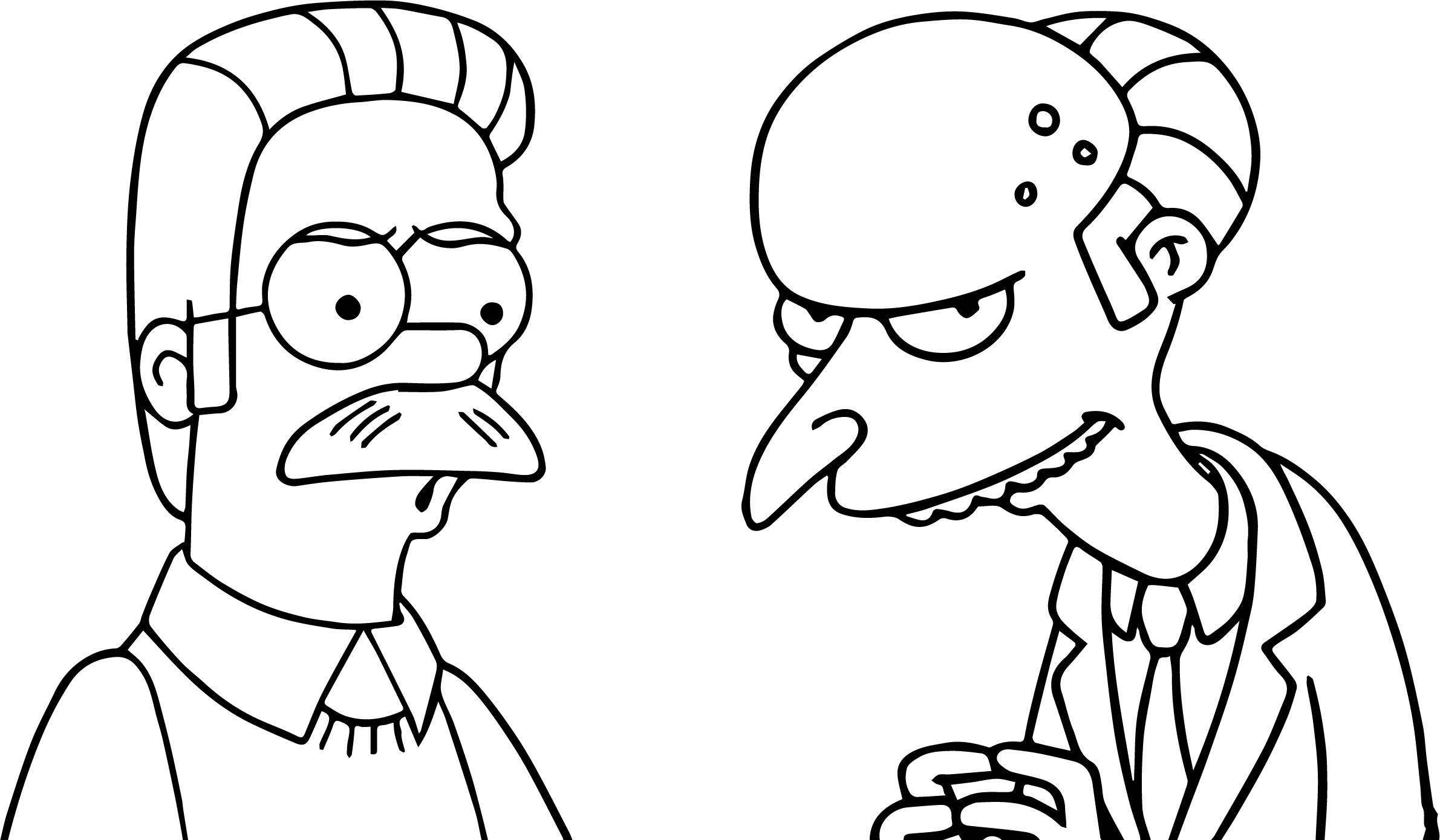 The Simpsons Bad Boy Plan Coloring Page