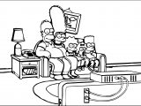 The Simpsons Couch Coloring Page
