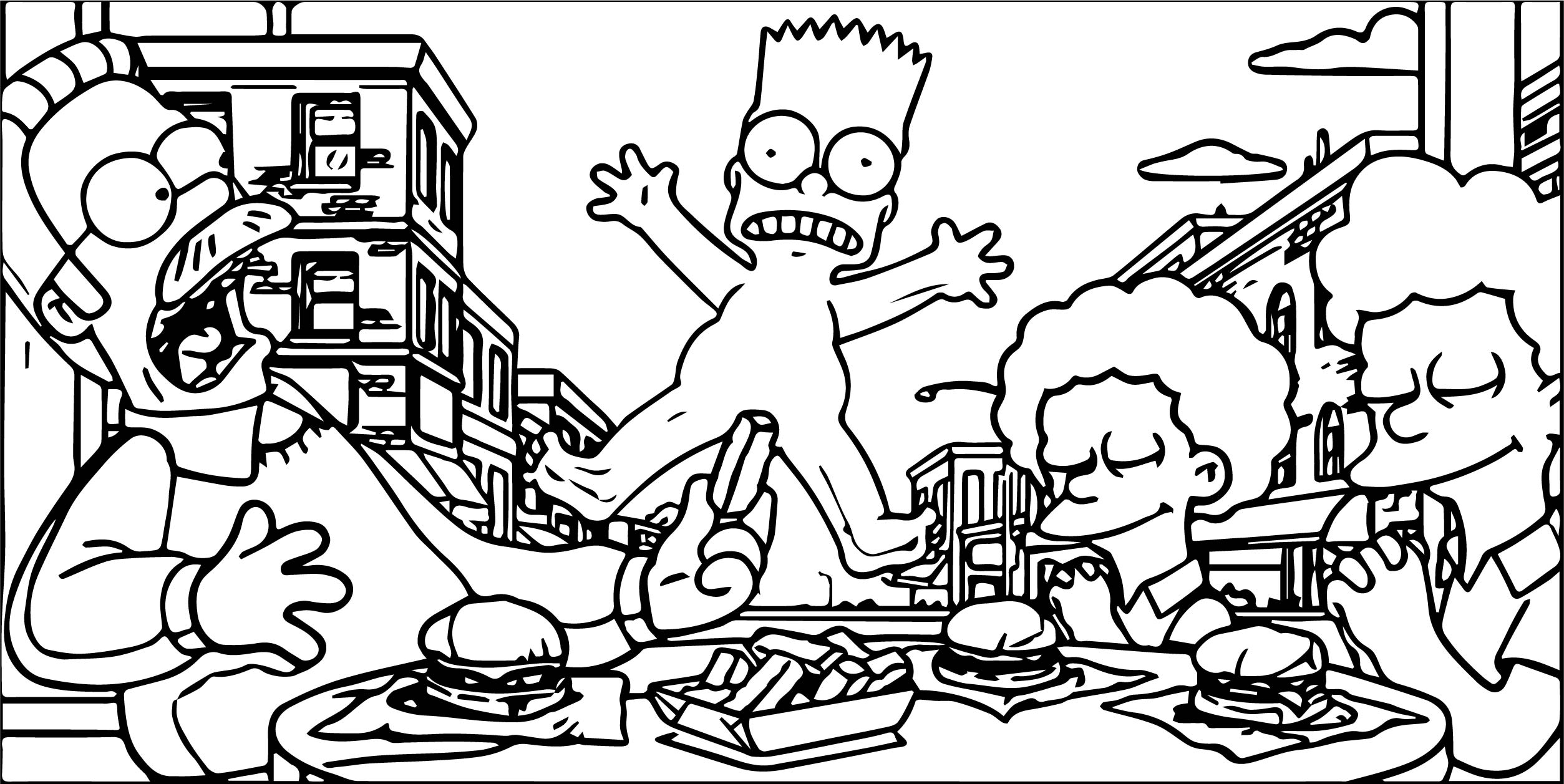 The Simpsons Enlighten With Life Lessons Coloring Page