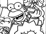 The Simpsons Family Coloring Page