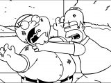 The Simpsons Family Guy Coloring Page