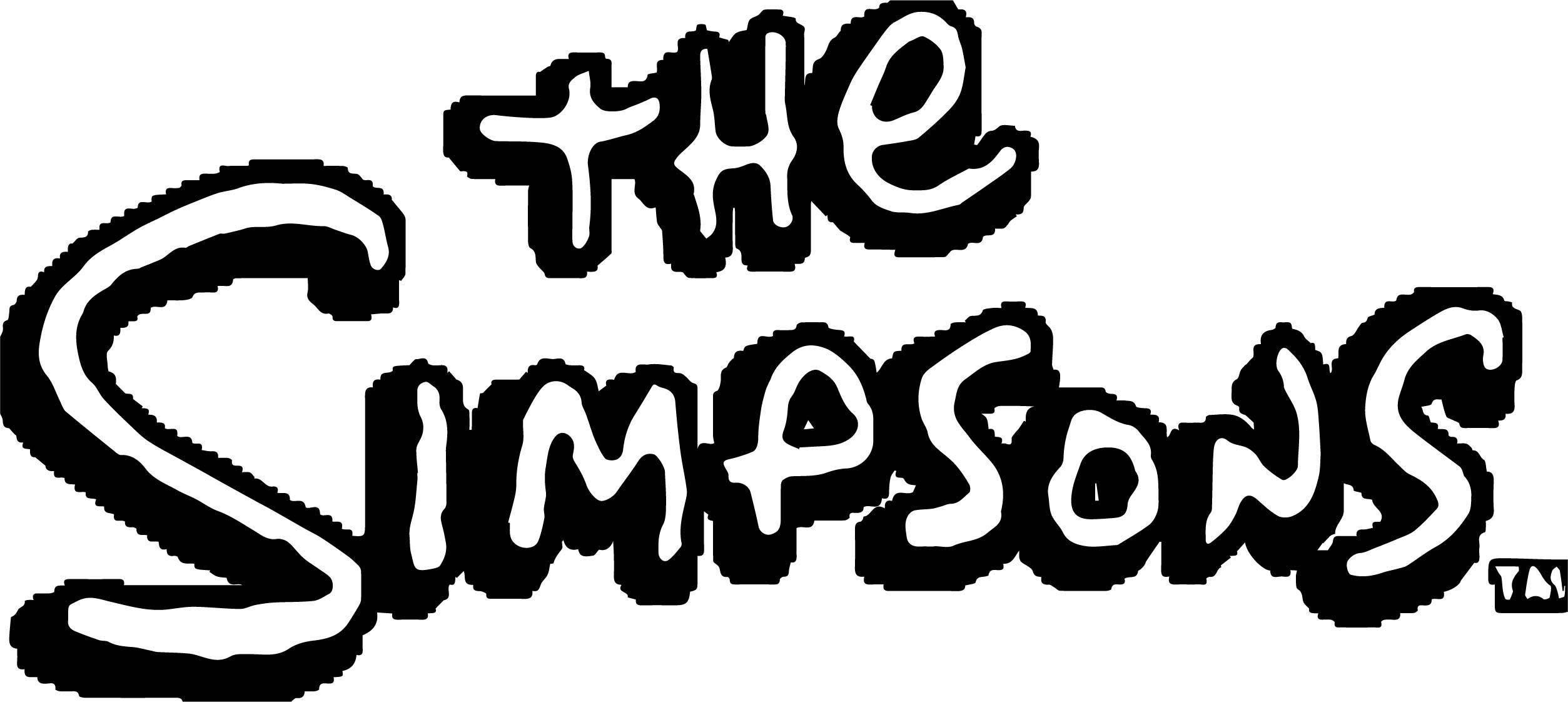 The Simpsons Logo Coloring Page