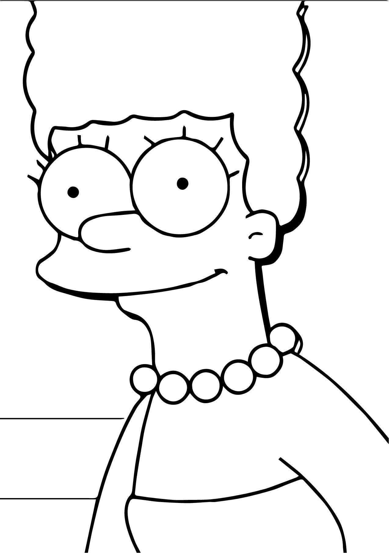The Simpsons Mother Coloring Page