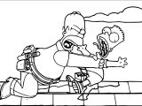 The Simpsons Movie Coloring Page