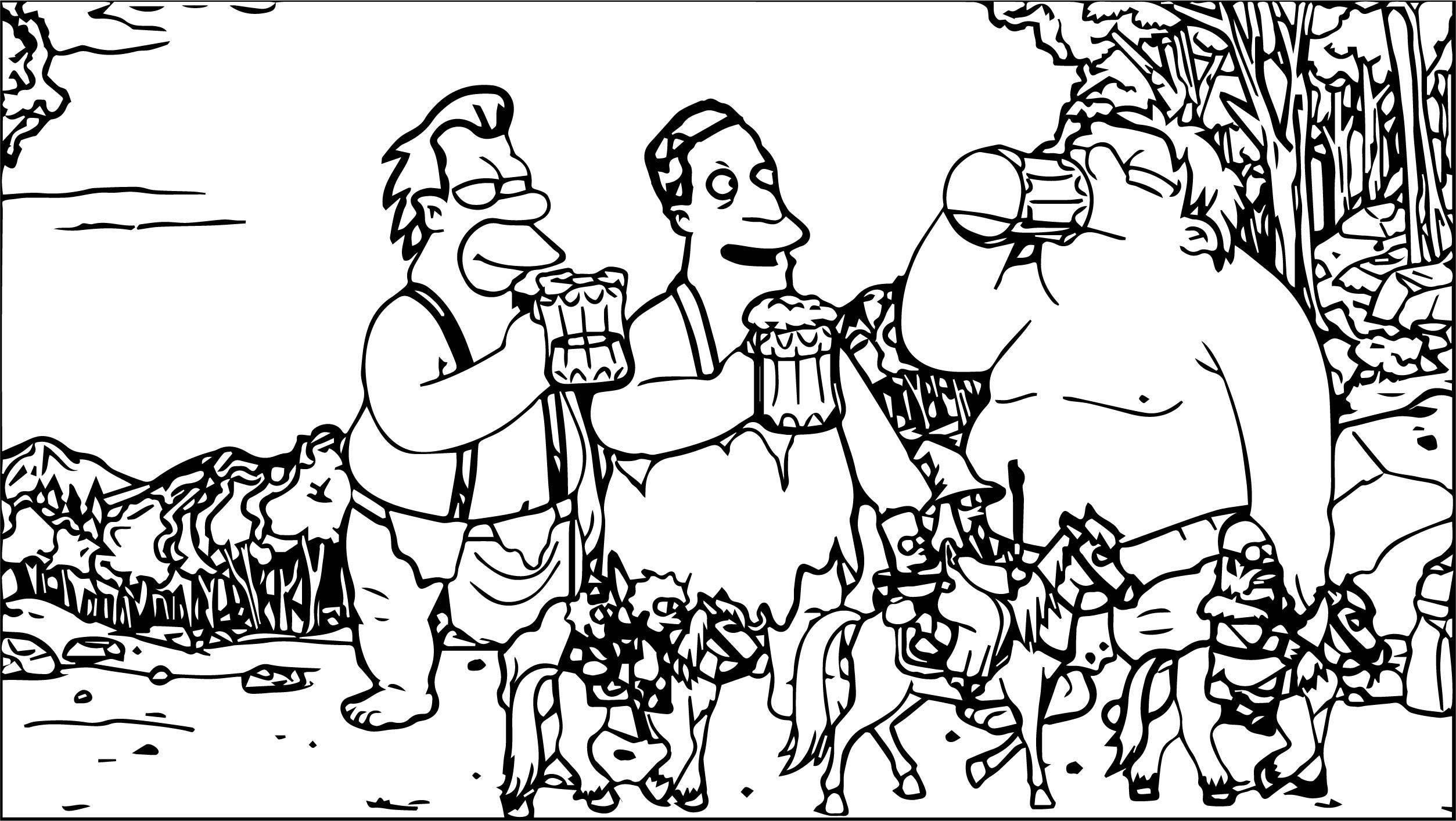 The Simpsons The Hobbit Couch Gag Coloring Page