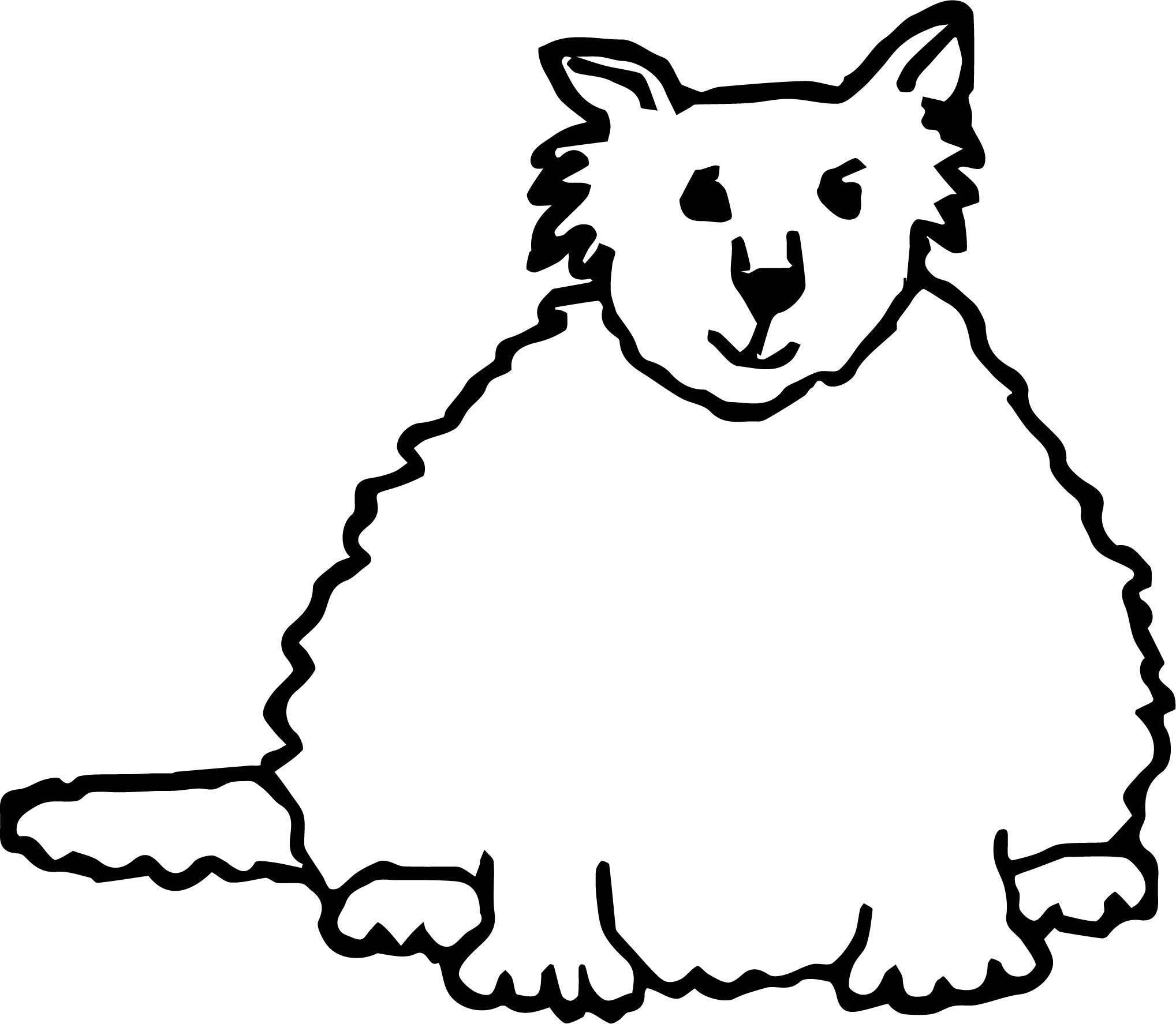 Thing Cat Coloring Page