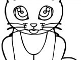 Thought Cat Coloring Page