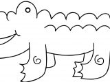Three Crocodile Alligator Coloring Page