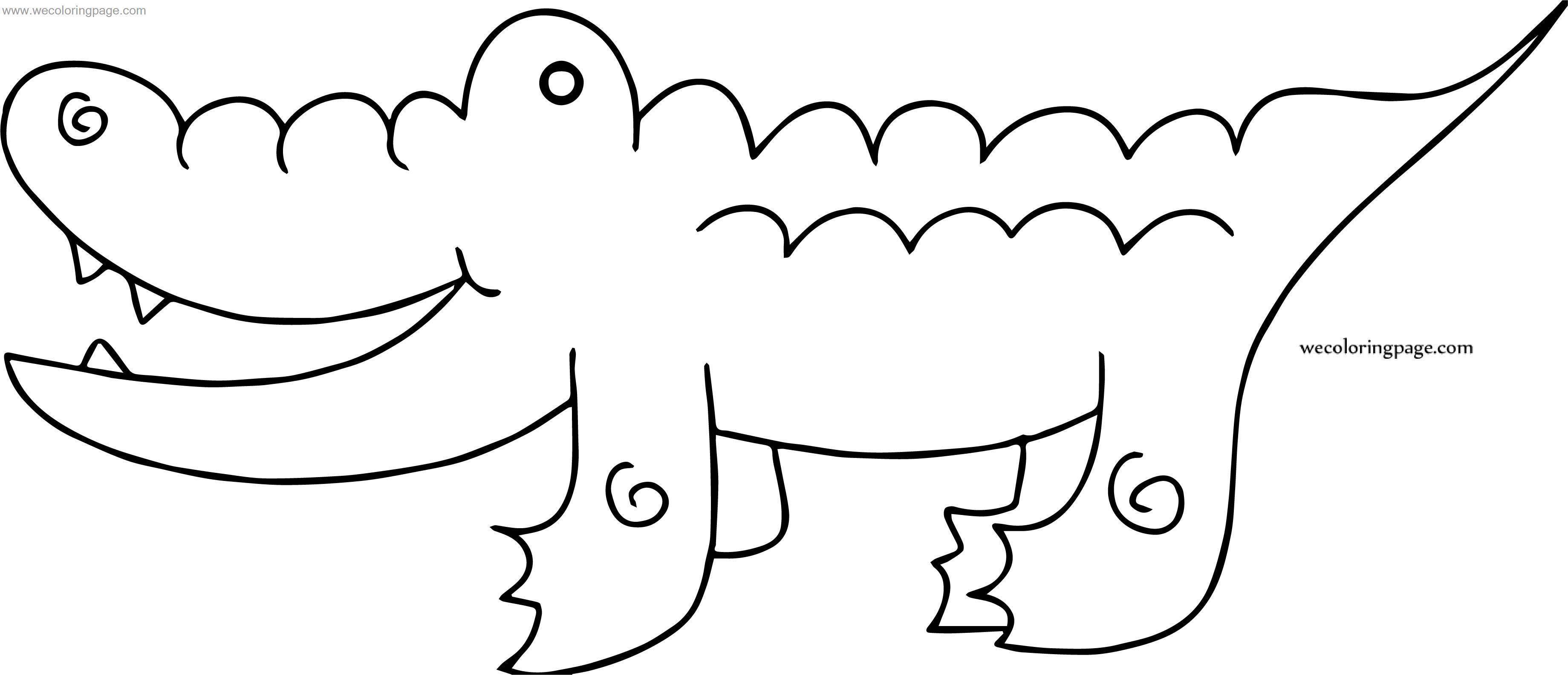 Three Crocodile Alligator Coloring Page