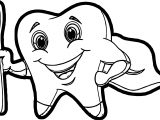 Tooth Cartoon Pictures Of Teeth Coloring Page