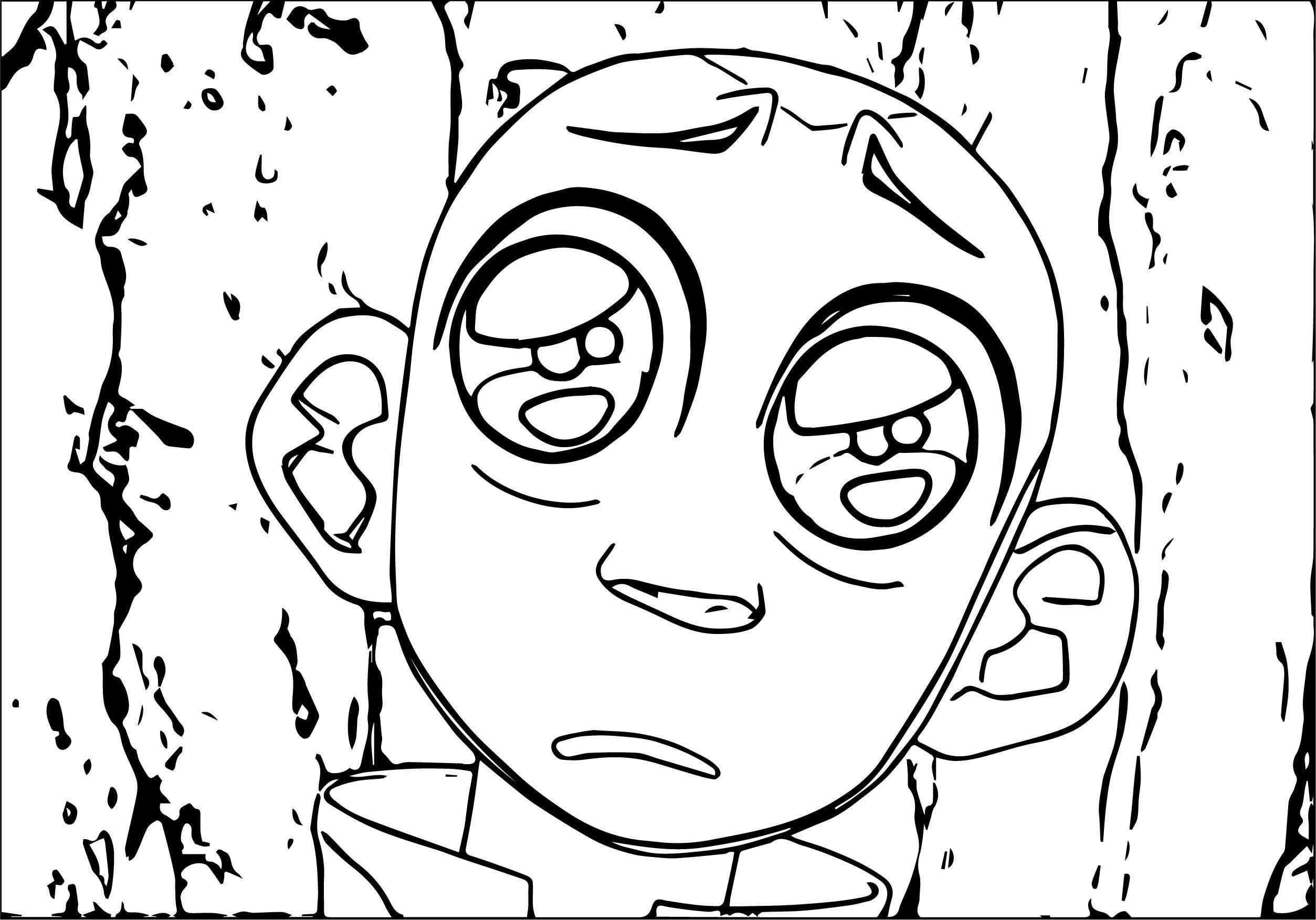 Tumblr Big Eyes Avatar Aang Coloring Page