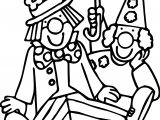 Two Clown Coloring Page