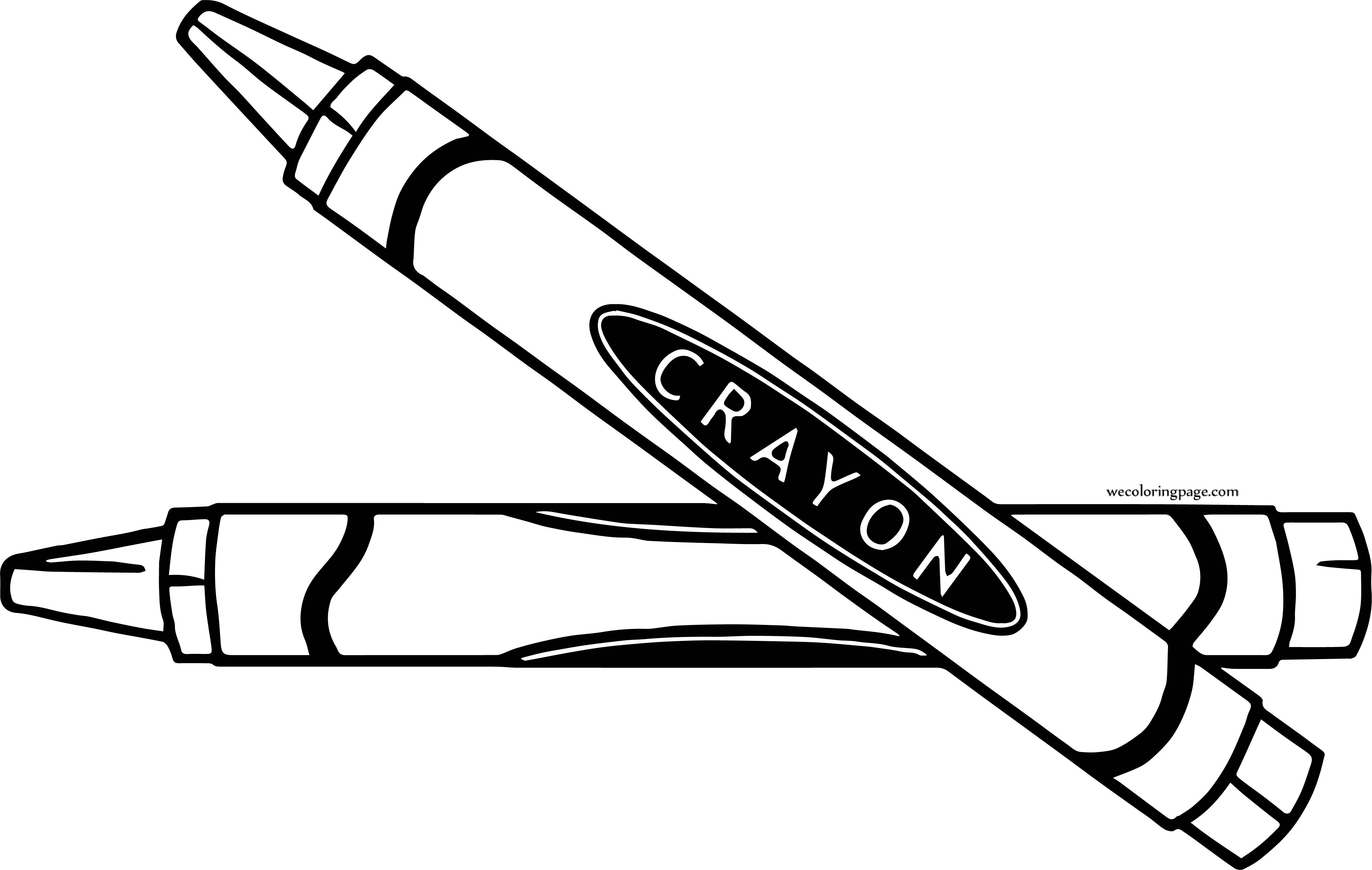 Two Pen Crayon Realistic Coloring Page