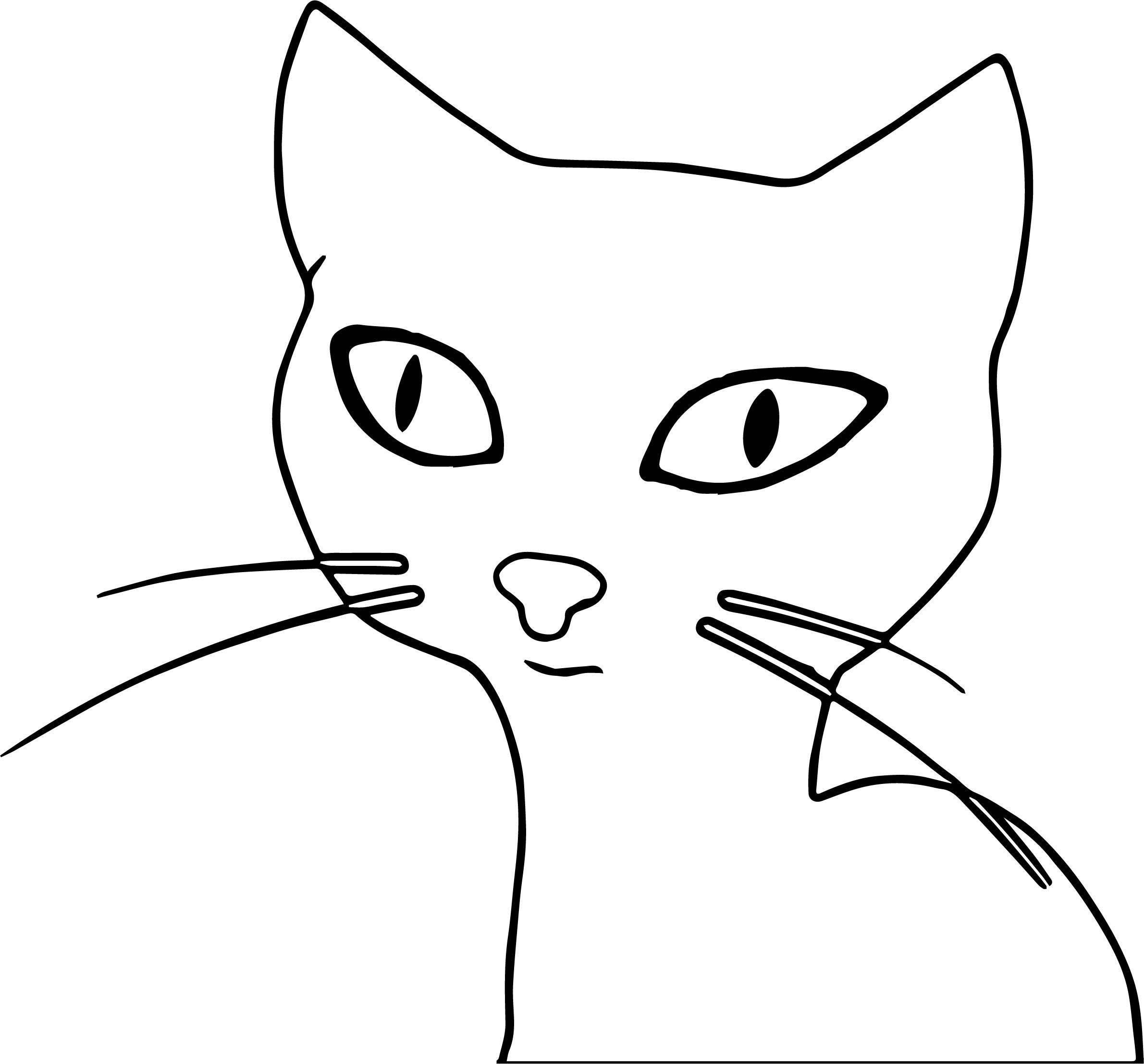 Up Cat Coloring Page