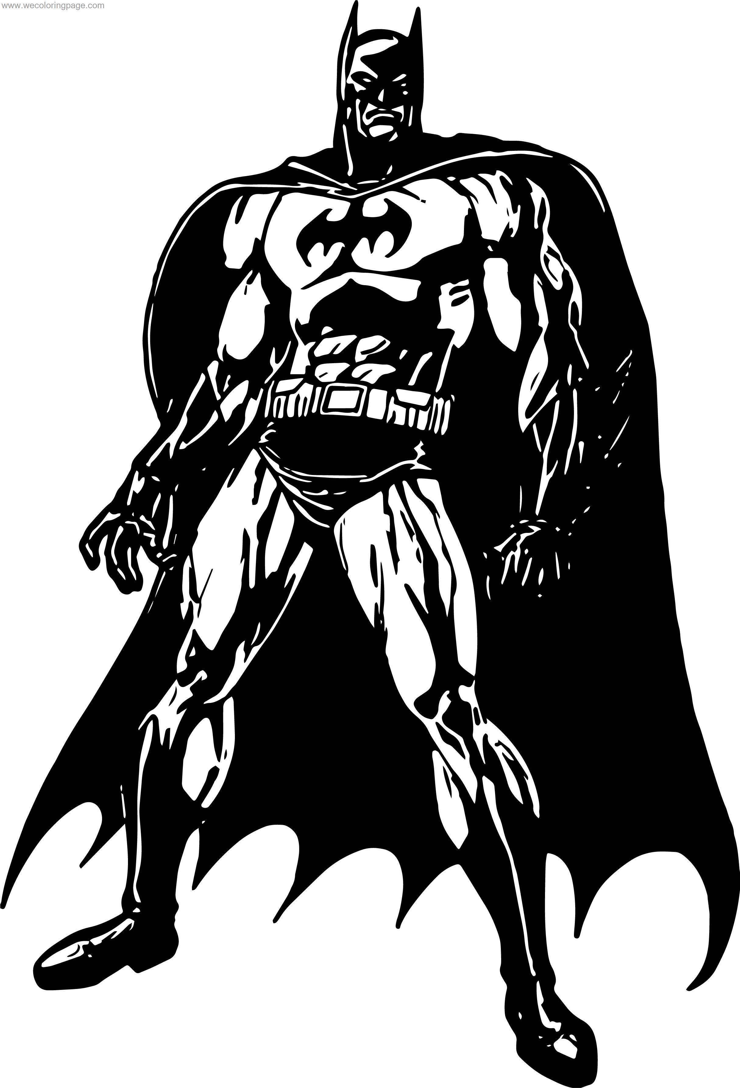 Use Batman Coloring Page