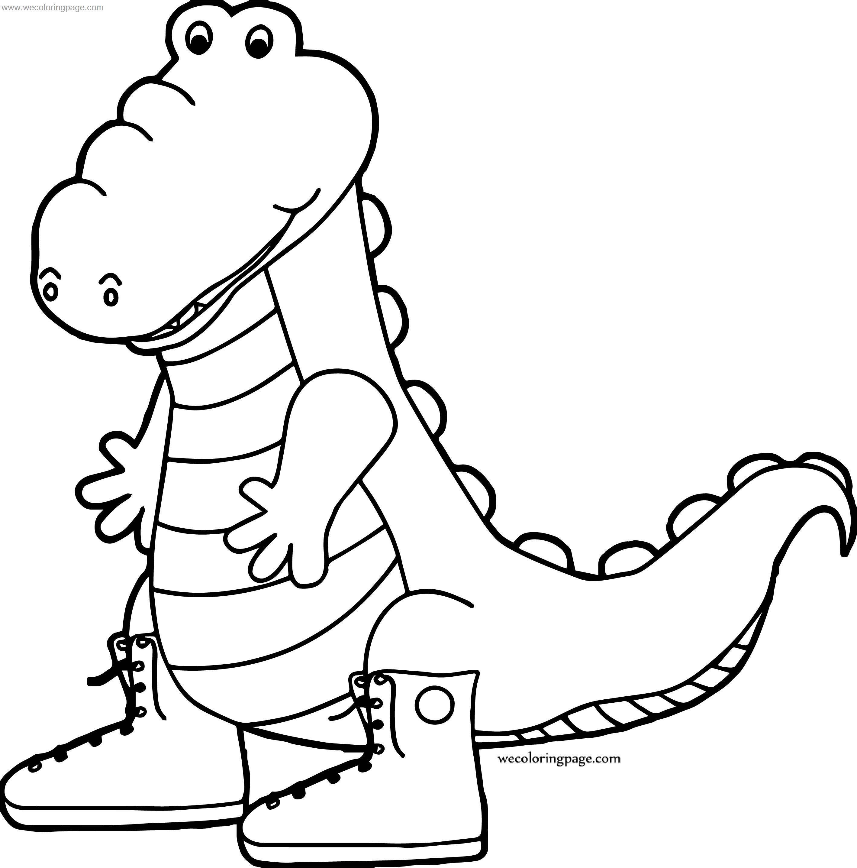 Use Crocodile Alligator Coloring Page
