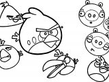 Vector Angry Birds Coloring Page