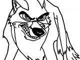 Very Angry Balto Coloring Page